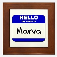 hello my name is marva  Framed Tile