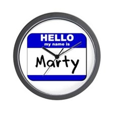 hello my name is marty  Wall Clock