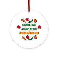 Vegetarian Kid Ornament (Round)