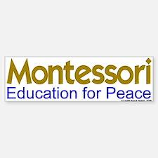 Education for Peace Bumper Car Car Sticker