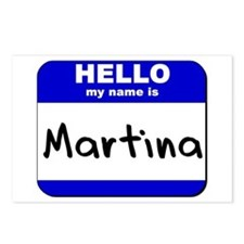 hello my name is martina  Postcards (Package of 8)