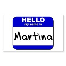 hello my name is martina Rectangle Decal