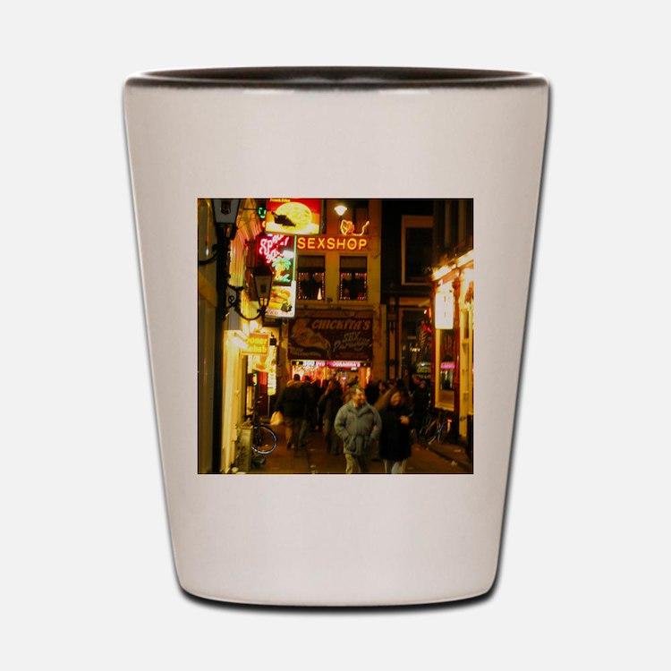Red Light District Amsterdam Shot Glass