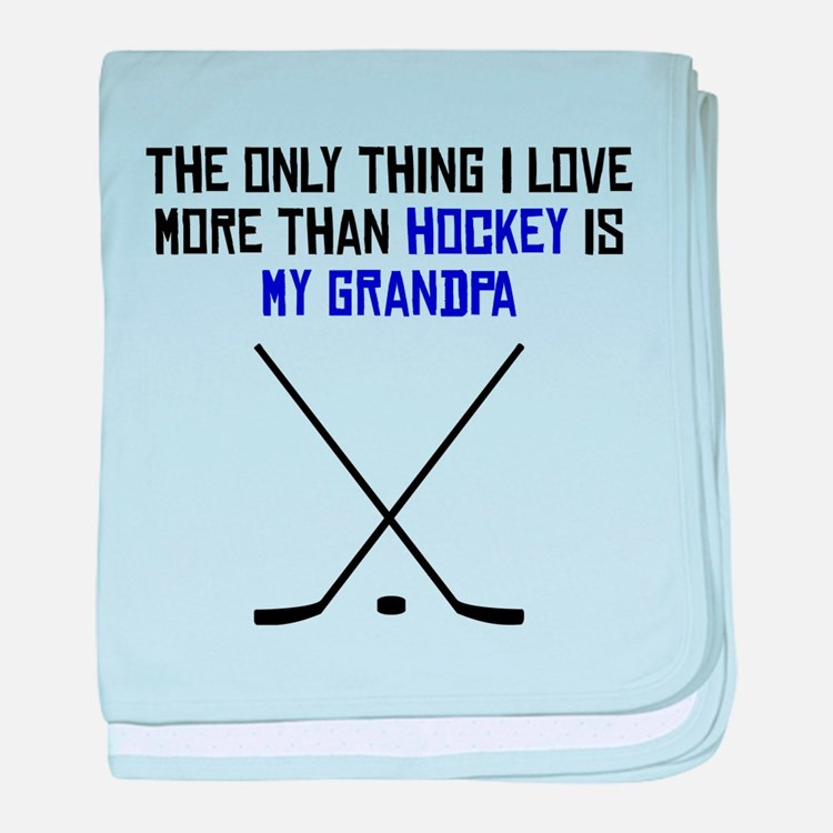 Hockey Grandpa baby blanket