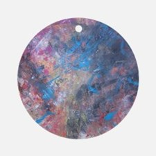 Abstract Expressions Rainbow Art Round Ornament