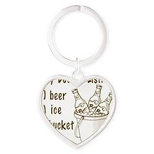 My Beer Bucket List Heart Keychain