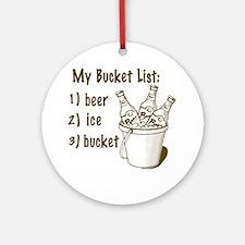 My Beer Bucket List Round Ornament