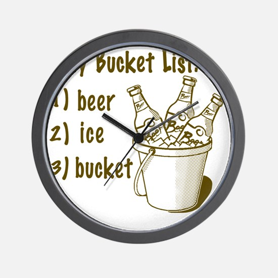 My Beer Bucket List Wall Clock
