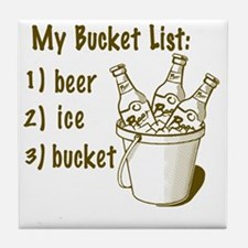 My Beer Bucket List Tile Coaster