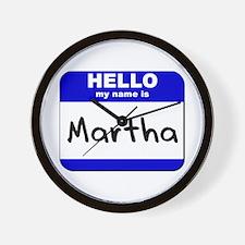 hello my name is martha  Wall Clock
