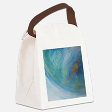 Abstract Expression Sea Foam Sere Canvas Lunch Bag