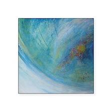 """Abstract Expression Sea Foa Square Sticker 3"""" x 3"""""""