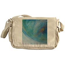 Abstract Expression Sea Foam Serenit Messenger Bag