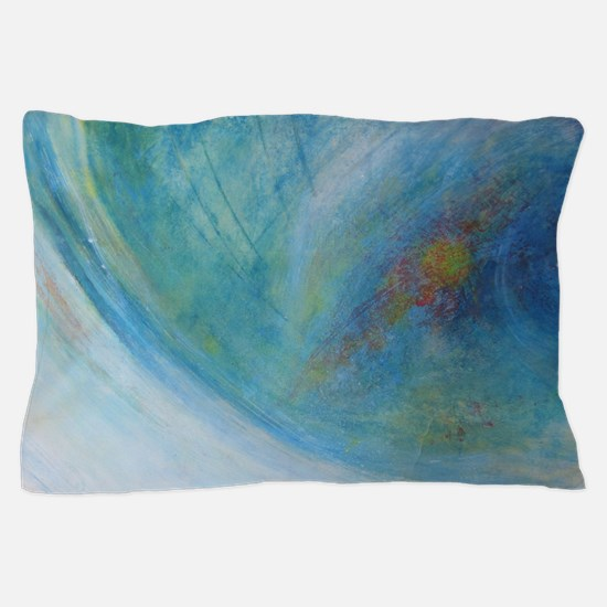 Abstract Expression Sea Foam Serenity Pillow Case