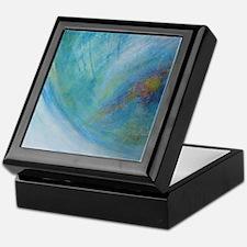 Abstract Expression Sea Foam Serenity Keepsake Box