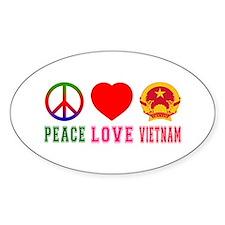 Peace Love Vietnam Decal