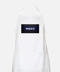 Police Diamond Plate Thin Blue Line Apron