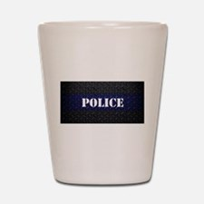Police Diamond Plate Thin Blue Line Shot Glass