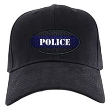 Police Diamond Plate Thin Blue Line Baseball Hat