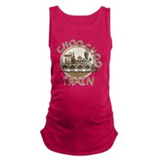 Old Time Choo Choo Train Maternity Tank Top