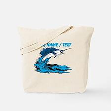 Custom Marlin Jumping Tote Bag