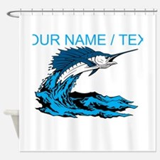 Custom Marlin Jumping Shower Curtain