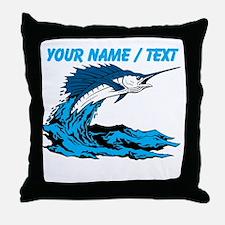 Custom Marlin Jumping Throw Pillow