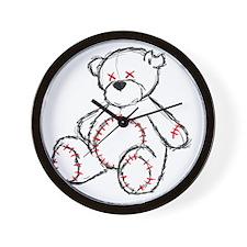 Tragic Bear Sketch Wall Clock