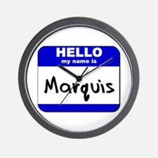 hello my name is marquis  Wall Clock