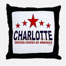 Charlotte U.S.A. Throw Pillow