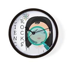 Girl Science Rocks Wall Clock