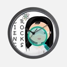 Girl Science Rocks Wall Clock