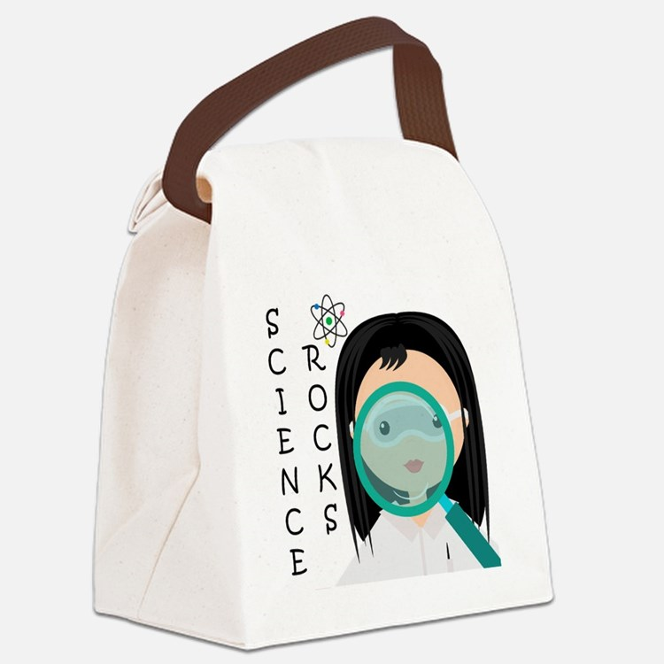 Girl Science Rocks Canvas Lunch Bag