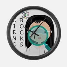 Girl Science Rocks Large Wall Clock