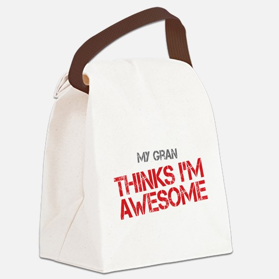 Gran Awesome Canvas Lunch Bag
