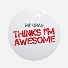 Gran Awesome Ornament (Round)