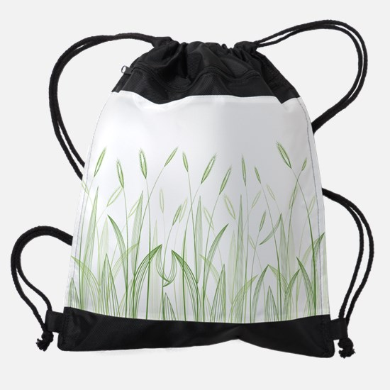 Delicate Grasses Drawstring Bag