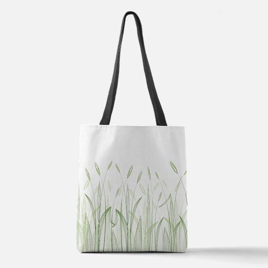 Delicate Grasses Polyester Tote Bag