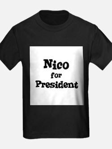 Nico for President Kids T-Shirt