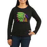 Native American Women's Long Sleeve Dark T-Shirt