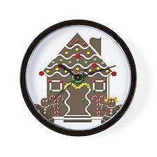 Cute Gingerbread House Christmas Wall Clock