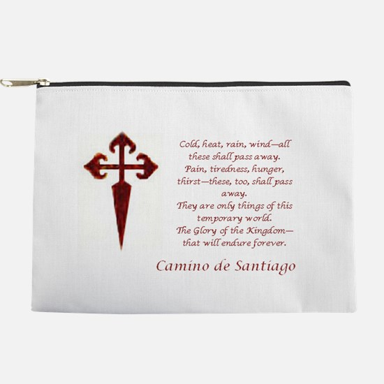 Camino Poem Red with Cross Makeup Pouch
