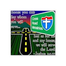 "Cross Road Ministries Square Sticker 3"" x 3"""