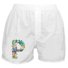 Beach Theme Monogram P Boxer Shorts