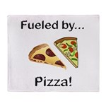 Fueled by Pizza Throw Blanket