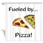 Fueled by Pizza Shower Curtain