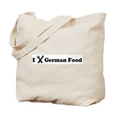 I Eat German Food Tote Bag