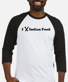 I Eat Indian Food Baseball Jersey