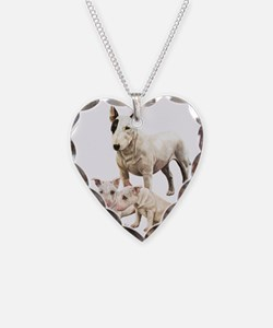 Bull Terrier Multi Necklace Heart Charm