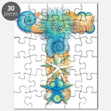 Beach Theme Initial T Puzzle